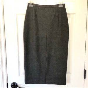 Whistles London grey wool blend pencil skirt sz 6